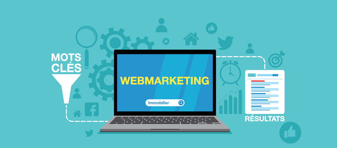 capture illustrant le webmarketing d'unsite immobilier