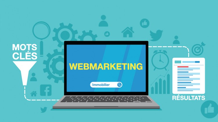 visuel illustrant webmarketing site immobilier