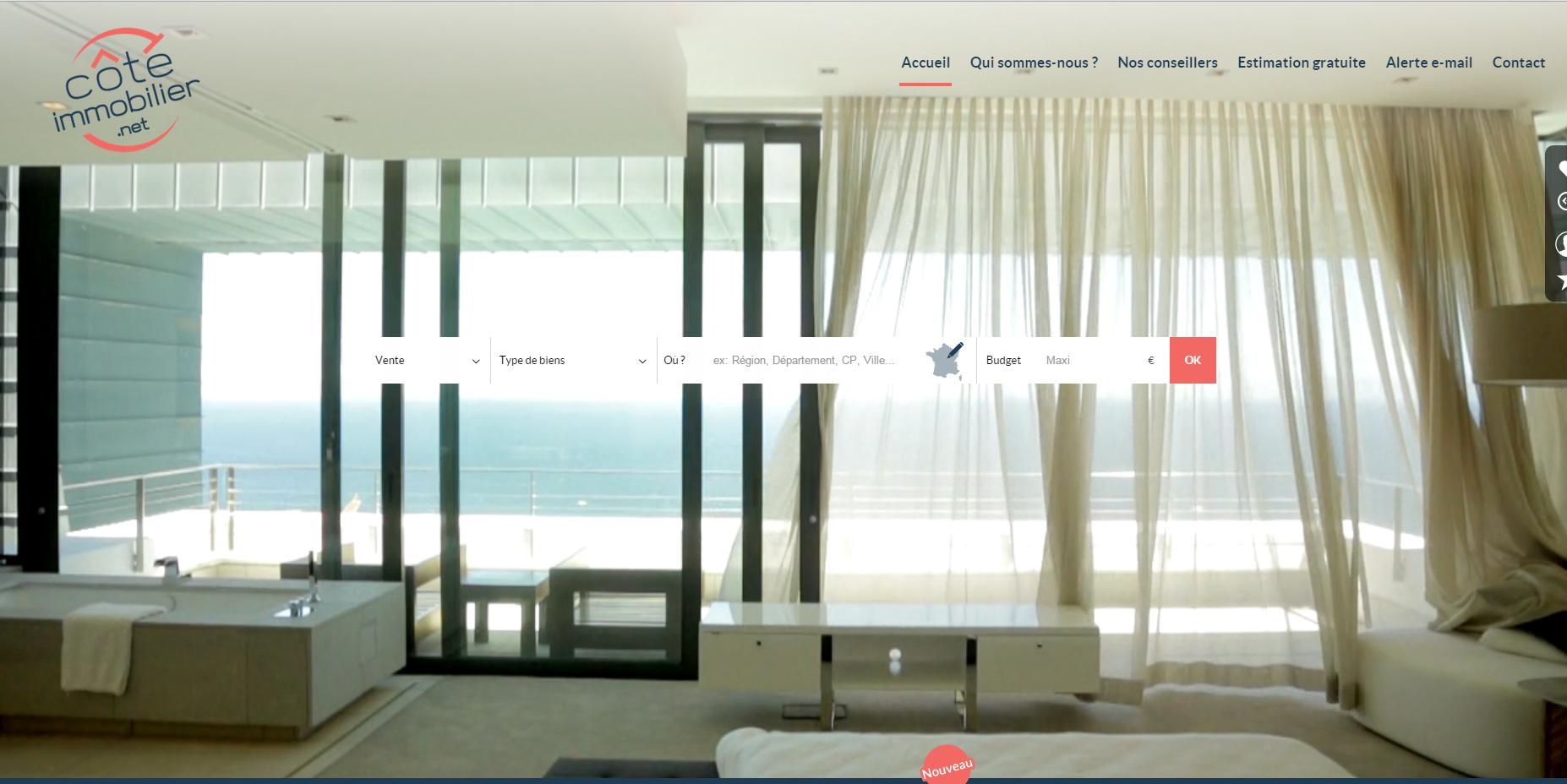 coté-immobilier site tendance webdesign la vidéo