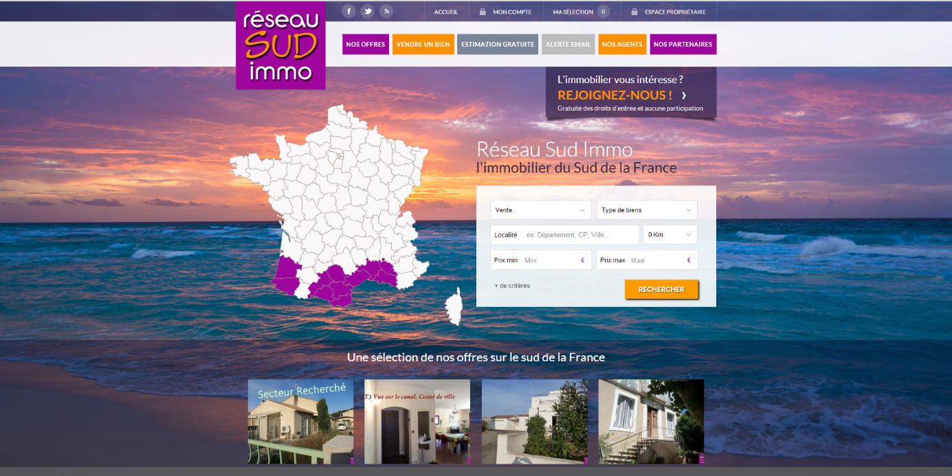 réseau sud immo site immobilier tendance