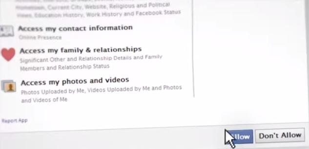 Autorisation Facebook pour visiter un bien - The Social Home Tour