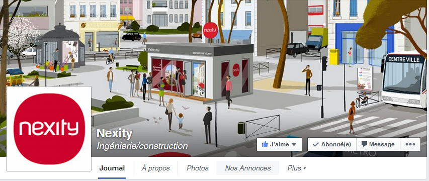 couverture Facebook Nexity immobilier