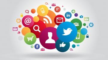 Infographie : nuage réseaux sociaux