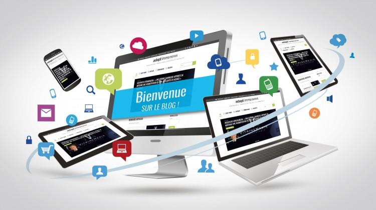 Visuel : lancement blog Adapt immo