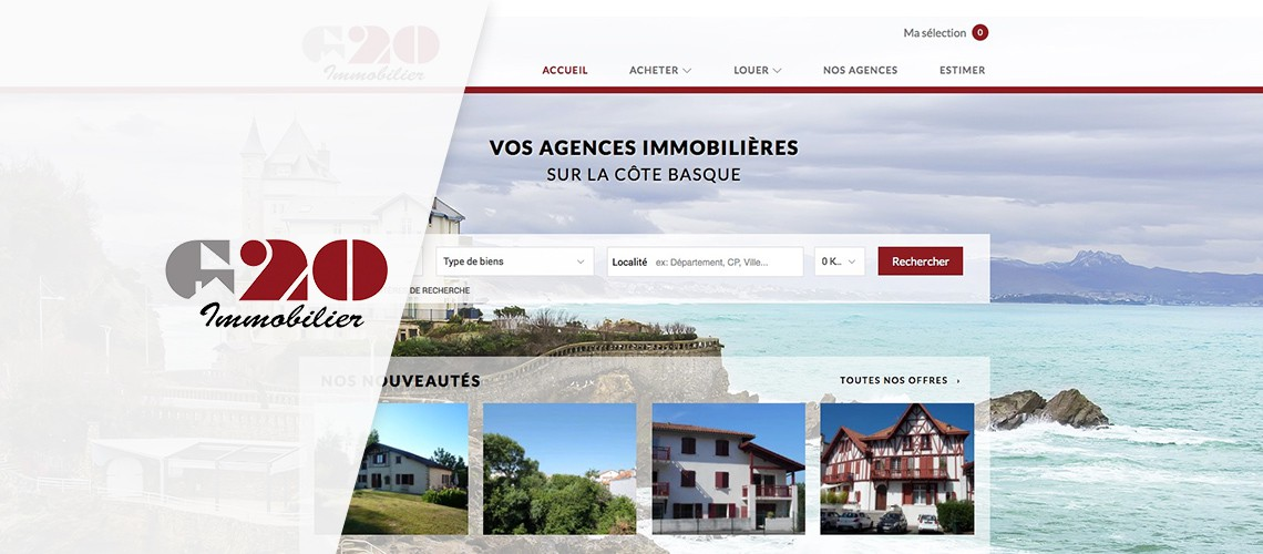 Capture d'écran : site Web G20 immobilier