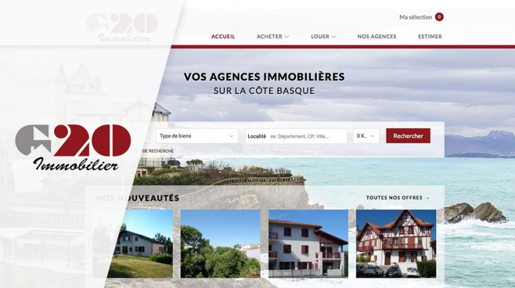 Capture d'écran : site Web G20 immobilier