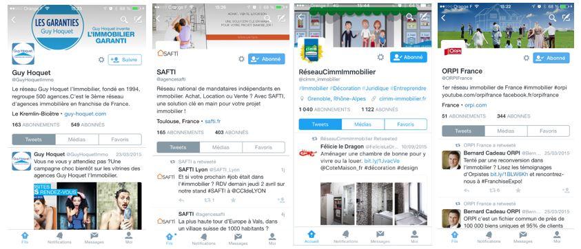 agences immobilières sur twitter