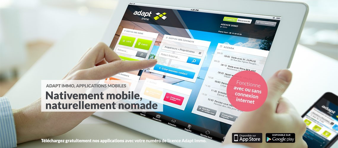Adapt immo : application mobile