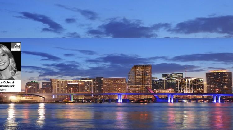 Miami à la tombée du jour