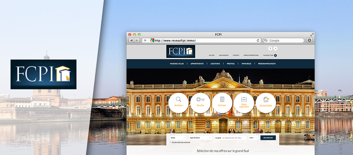 Capture du site immobilier FCPI