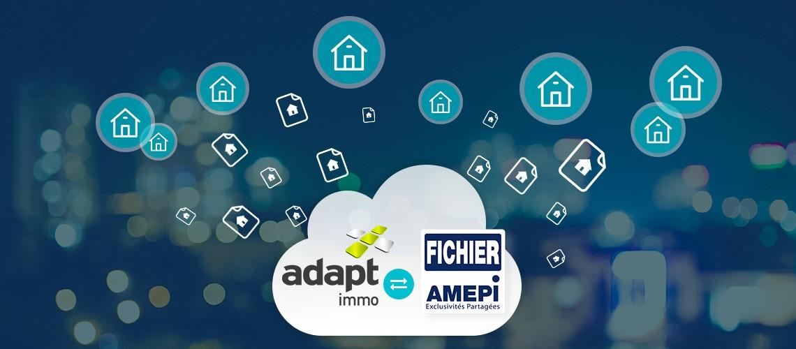 visuel Logiciel immobilier Adapt immo et fichier Amepi