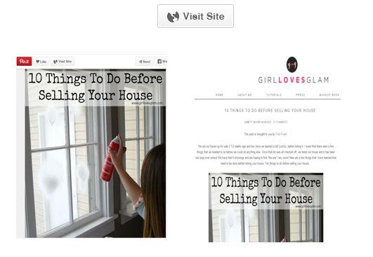 illustration qui montre le partage d'articles blog sur pinterest - valoriser les biens immobiliers - visit site