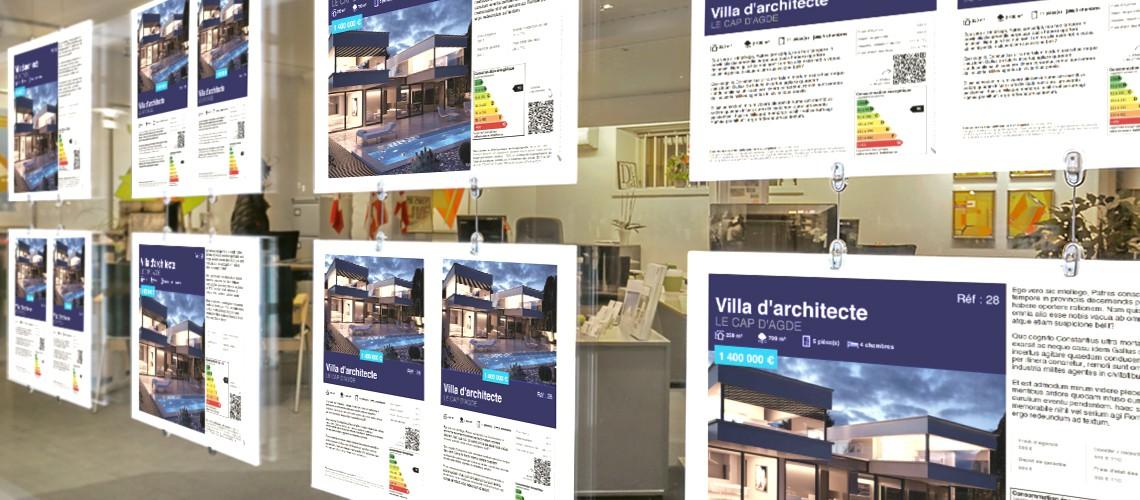 Fiche vitrine agence immobilière logiciel Adapt immo