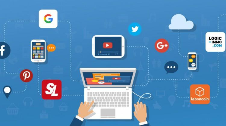 visuel illustrant la communication digitale des agences immobilières