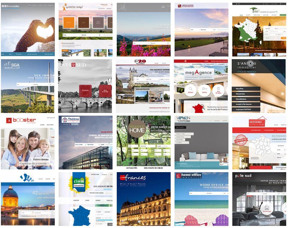capture d'écran avec les modeles-de-sites-dagences-reseaux-immobiliers-crees-par-adapt-immo