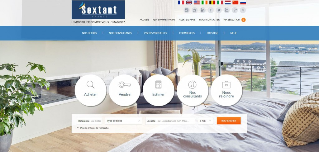 capture d'écran - Site immobilier sextant
