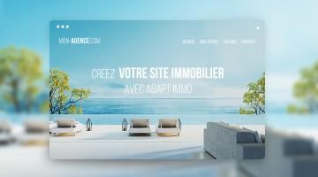 visuel illustrant création site immobilier