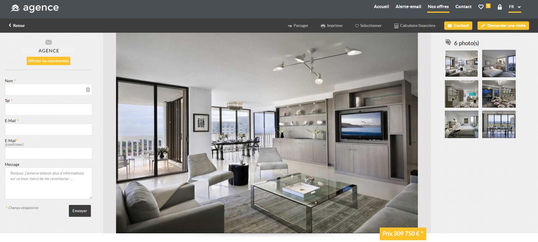 visuel illustrant les sites immobiliers et les fiches d'annonces