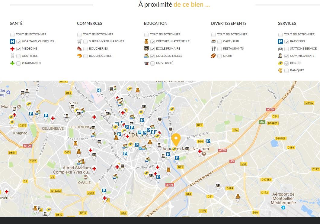 visuel illustrant géolocalisation immobilier site