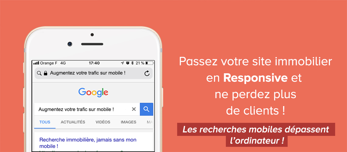 SITE MOBILE RESPONSIVE IMMOBILIER TRAFIC 2