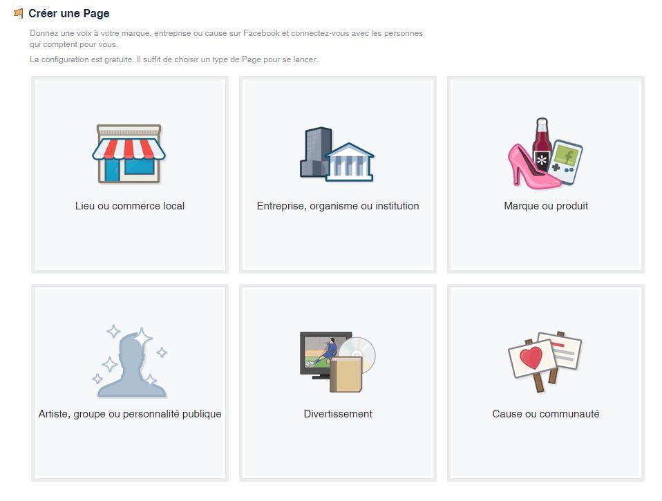 visuel type de page facebook