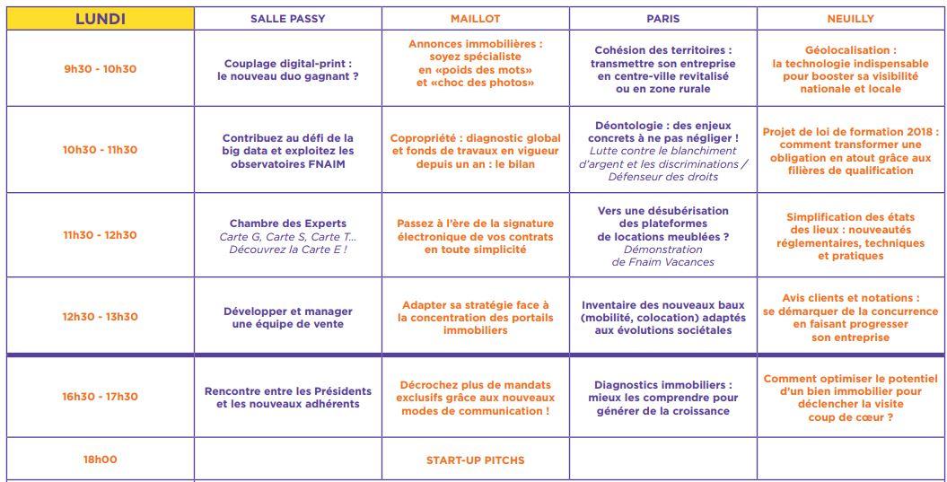 programme congrès Fnaim paris