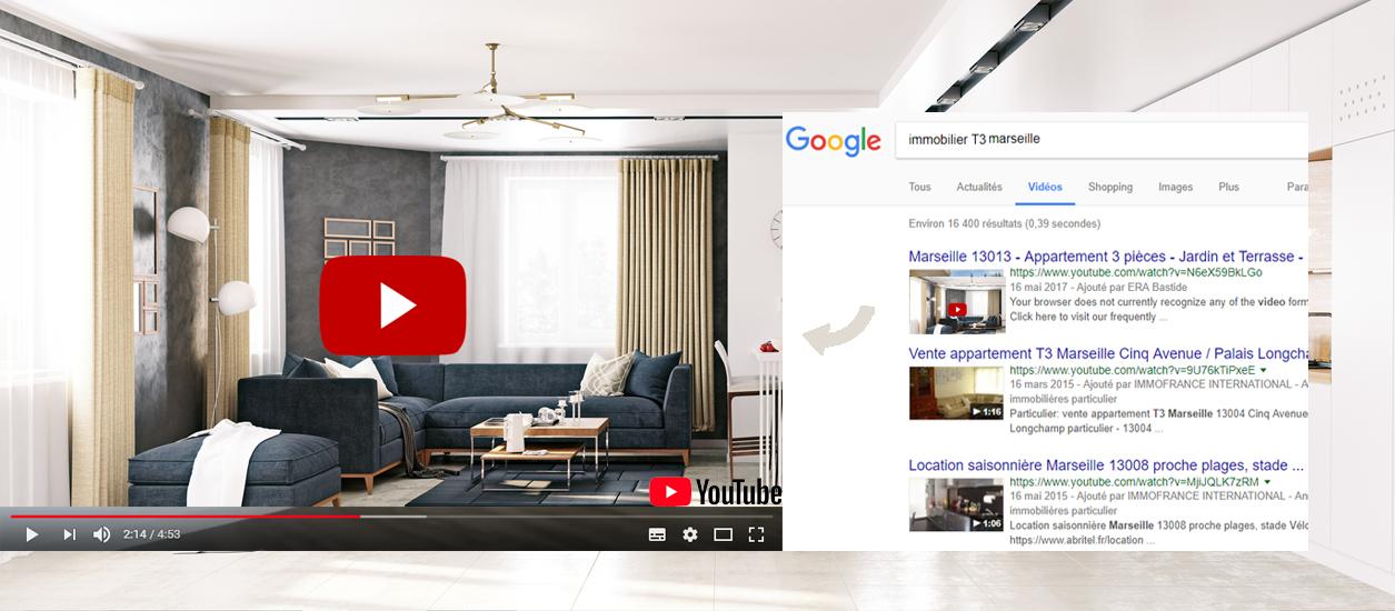 illustration référencement video annonce immobiliere