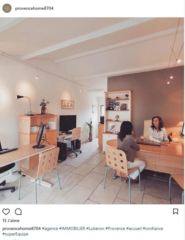 agence immobilière bureau instagram