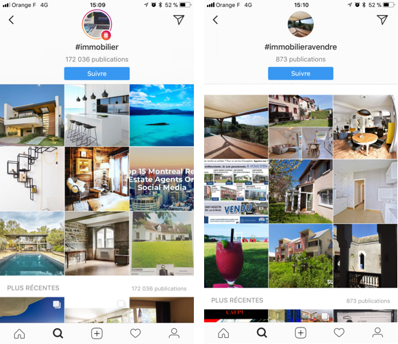 instagram immobilier hashtag