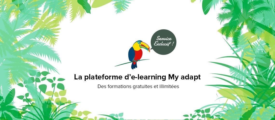 visuel représentant la plateforme d'e-learning adapt immo