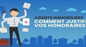 Honoraires agences immobilières infographie